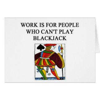 Spielspieler des Blackjack 21 Karte