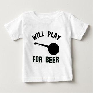Spielt das Banjo für Biervektorentwürfe Baby T-shirt