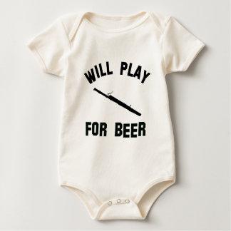 Spielt den Bassoon für Biervektorentwürfe Baby Strampler