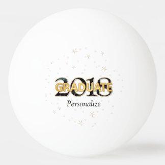 Spielt graduierte Typografie 2018 mit Gold Tischtennis Ball