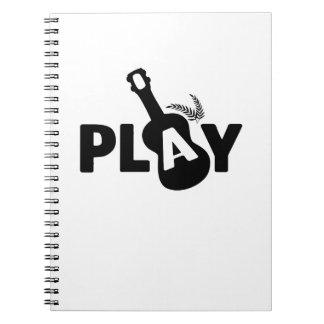 SpielUkulele Uke Musikfreund-Geschenk lustig Notizblock