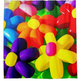 Spielzeug-Ballon-Blumen Duschvorhang