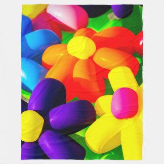 Spielzeug-Ballon-Blumen Fleecedecke