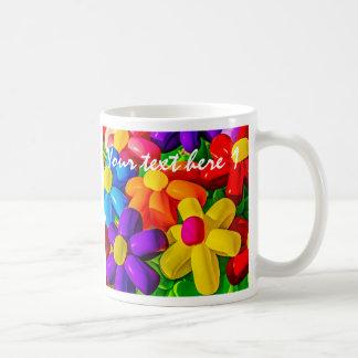 Spielzeug-Ballone - städtische Blumen Kaffeetasse
