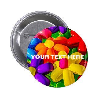 Spielzeug-Ballone - städtische Blumen Runder Button 5,7 Cm