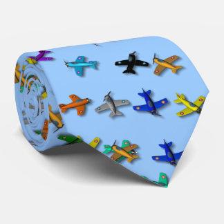 Spielzeug-Flugzeug-Krawatte Bedruckte Krawatten