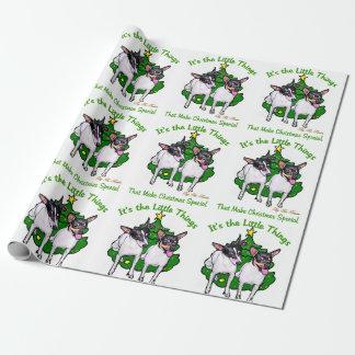 Spielzeug-Foxterrier-Weihnachten Geschenkpapier