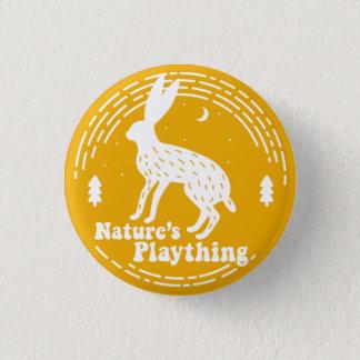 Spielzeug-//-Hase-Button der Natur (Gelb) Runder Button 3,2 Cm