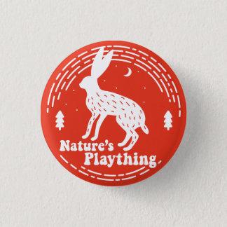 Spielzeug-//-Hase-Button der Natur (rot) Runder Button 3,2 Cm