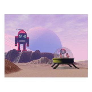 Spielzeug-Mond-Wanderer-Szenen-Postkarte Postkarte