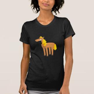 Spielzeug-Pferdezeichnen abgeschieden auf weißem T-Shirt