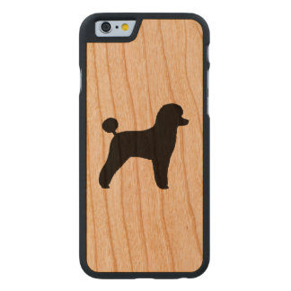 Spielzeug-Pudel-Silhouette Carved® iPhone 6 Hülle Kirsche