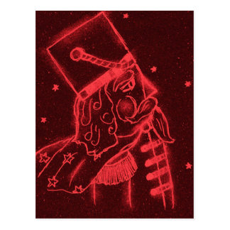 Spielzeug-Soldat im Rot Postkarte