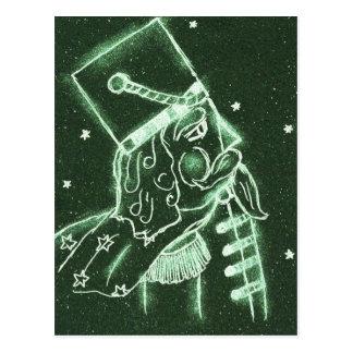 Spielzeug-Soldat in tiefem Forest Green Postkarte