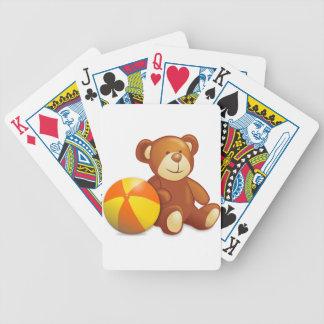 Spielzeug-Teddybär und Ball Bicycle Spielkarten