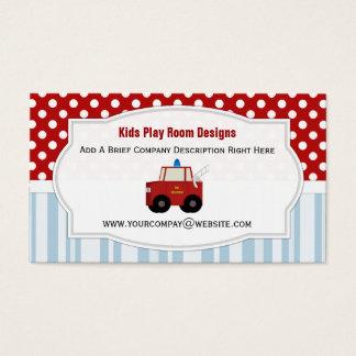 Spielzeugfiretruck-Visitenkarten Visitenkarte