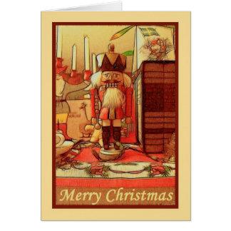 Spielzeugsoldat der frohen Weihnachten zur Karte