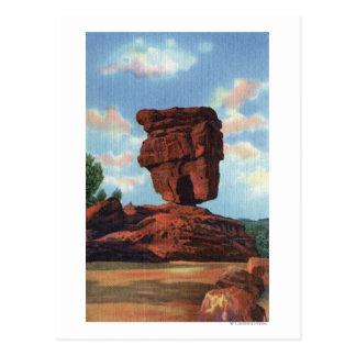 Spiess-Spitze, Colorado - ausgeglichener Felsen Postkarte