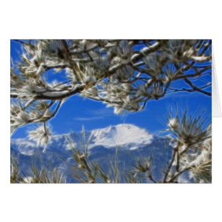 Spiess-umfaßte Höchstwinter-Schnee Fraktal-Kunst Grußkarte