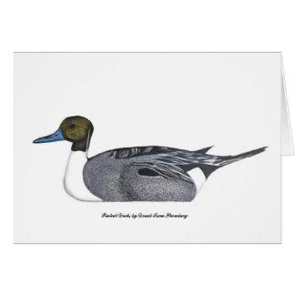 Spießenten-Enten-Gruß-Karte, durch David Iwan Karte