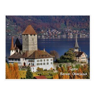 Spiez Schloss, die Schweiz/Schloss Spiez, Schweiz Postkarte