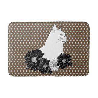 Spillseil, das mit Blumen, Polkapunkte zeichnet Badematten