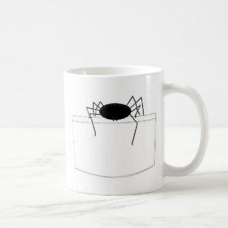 Spinne in der Tasche Kaffeetasse