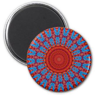Spinne Kaliedascope Runder Magnet 5,7 Cm