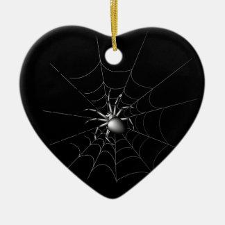 Spinne Keramik Herz-Ornament