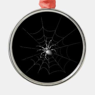 Spinne Rundes Silberfarbenes Ornament