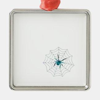 Spinne Silbernes Ornament