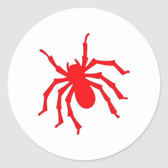 Spinne spider runder aufkleber