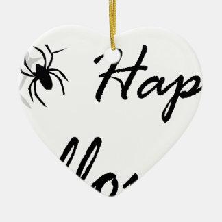 Spinne und Netz Keramik Ornament