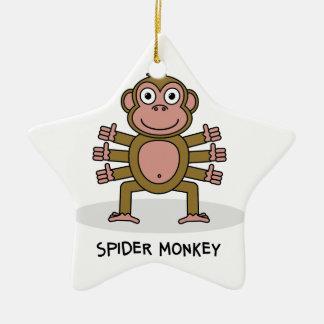 Spinnen-Affe Keramik Stern-Ornament