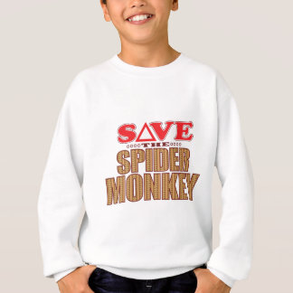 Spinnen-Affe retten Sweatshirt