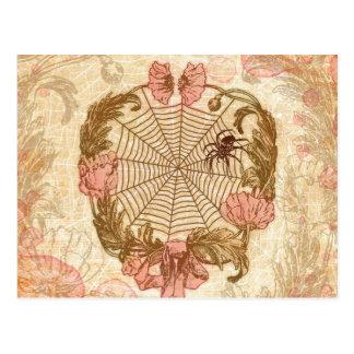 Spinnen-BlumeWreath Postkarte