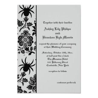 Spinnen-Damast-Hochzeits-Einladung 12,7 X 17,8 Cm Einladungskarte