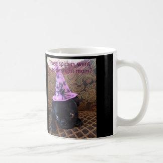 """Spinnen Fräulein-Harley """"gingen draußen, rechte Kaffeetasse"""