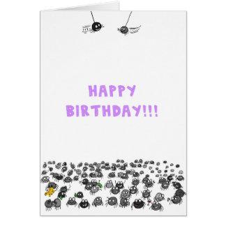 Spinnen-Geburtstags-Karte Karte