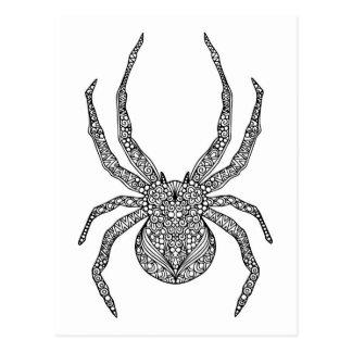 Spinnen-Gekritzel Postkarte