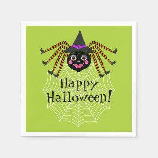 Spinnen-Hexe-Halloween-Party Papierserviette