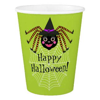 Spinnen-Hexe-Halloween-Party Pappbecher