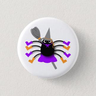 Spinnen-Hexe Runder Button 3,2 Cm