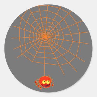 Spinnen-Netz-Halloween-Aufkleber Runder Aufkleber