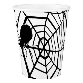 Spinnen-Netz - Halloween - Papierschale Pappbecher