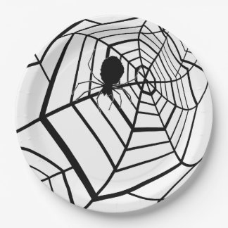 Spinnen-Netz - Halloween - Pappteller