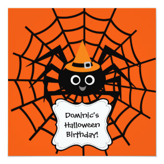 Spinnen-Netz-Halloween-Party-Einladung Karte