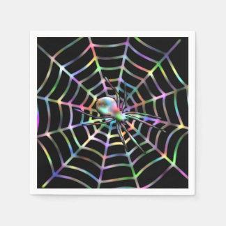Spinnen-und Netz-Halloween-Party-Servietten Papierserviette