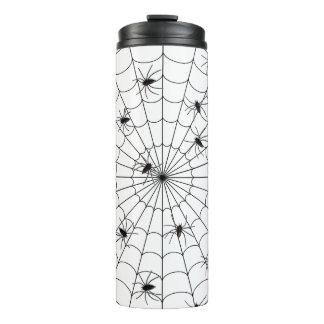 Spinnen und Netz Thermosbecher