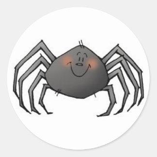 Spinnenaufkleber Runder Aufkleber
